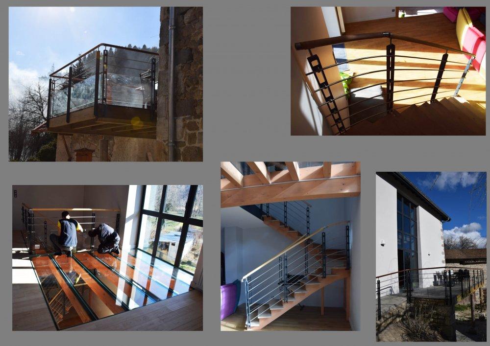 Rénovation en Livradois: Bois, pierre et verre