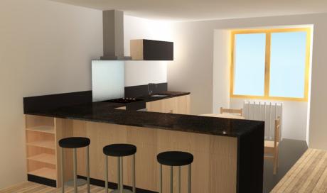 Conception de cuisine design et moderne pour un particulier à Ambert